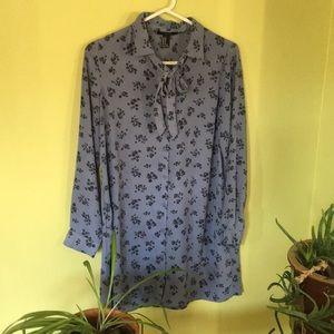 Blue floral shirt/dress